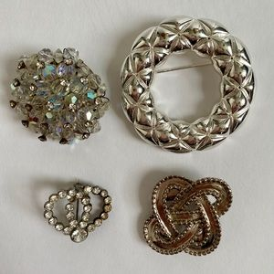 Lot of Four Vintage Brooch Pins